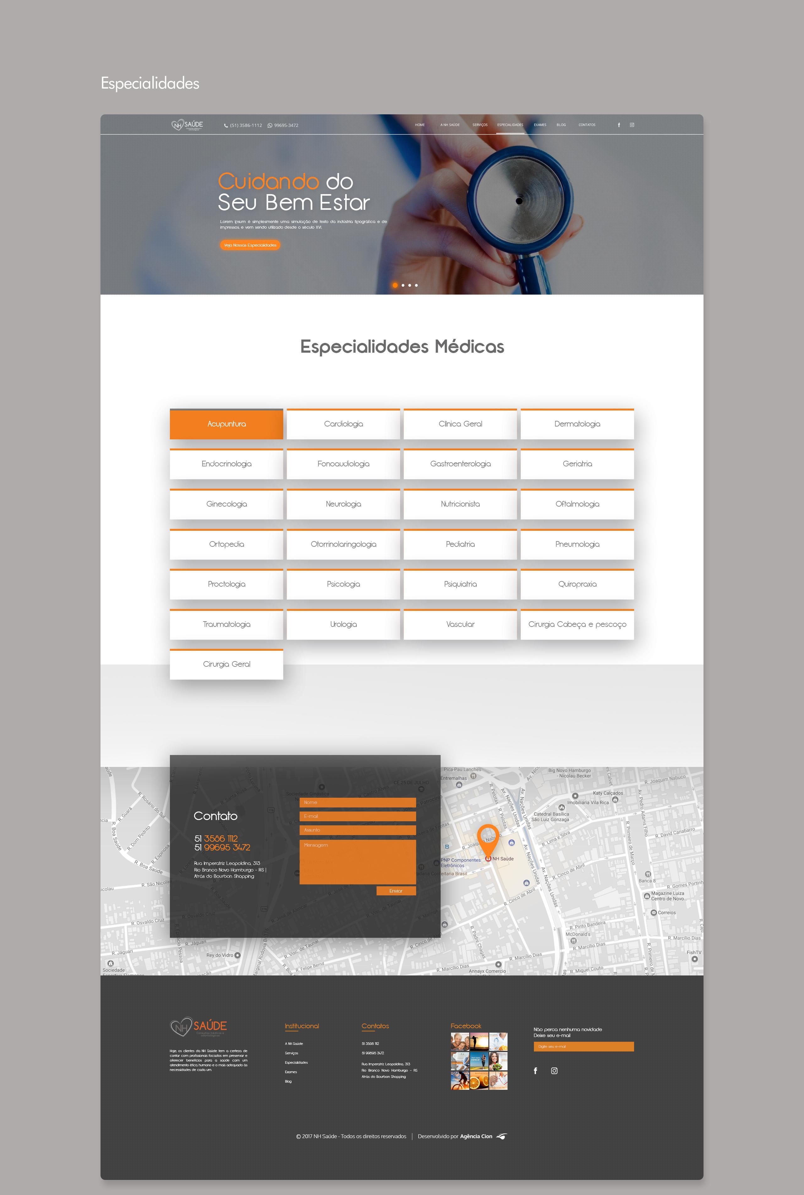 Website NH Saúde